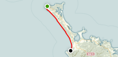 90 Mile Beach Route Map