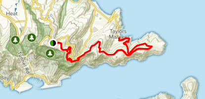 MTB Track from Summit Road to Godley Head Map