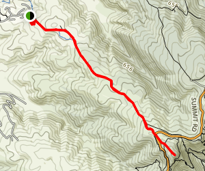Kennedy's Track to Mount Ada Map