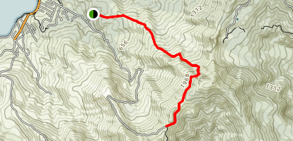 Purple Peak Track to Paripai Track Map