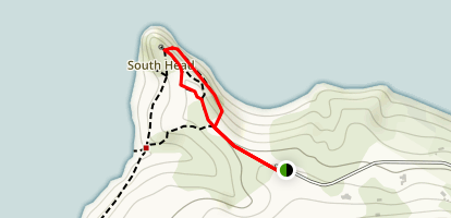 Heritage Track to South Head Lookout Point Loop Map