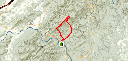 Lilttle Rocky Row Loop via Appalachian Trail Map