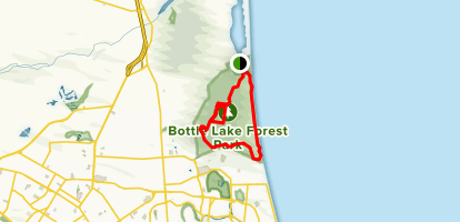 Spencer Park MTB Brown and Southern Pegasus Bay Track Map
