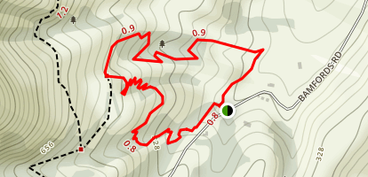 Living Springs Mountain Bike Loop Map