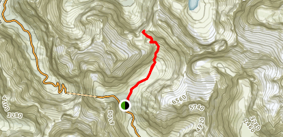 Gertrude Saddle Route Trail Map
