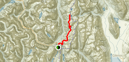 Routeburn Track to Lake Mackenzie and Conical Hill Map