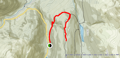 Routeburn Track to Key Summit and View of Lake Marian Map