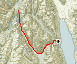 Greenstone Track to Lake Howden Map