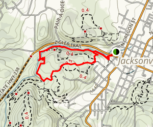 Jacksonville Woodlands Association Trail System Map