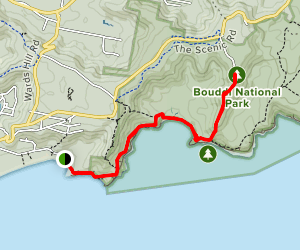Bouddi Coastal Walk to Mount Bouddi Track Map