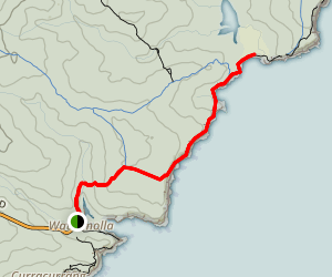 Coast Track: Wattamolla to Marley Beach Map