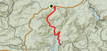 Upper Hula Reservoir Track Map