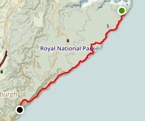 Royal National Park Coast Track (North to South) Map
