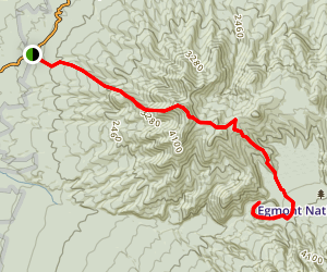 Dover Track and Bells Falls Track to The Dome Map