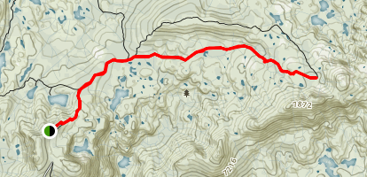 Glacier Lakes Trail Map