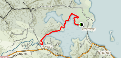 Waitangi to Haruru Falls Trail Map