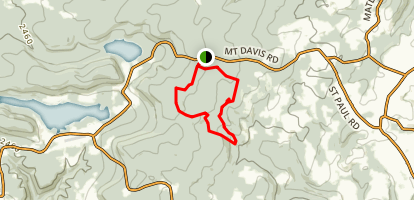 Mount Davis Pennsylvania Highpoint Trail Map
