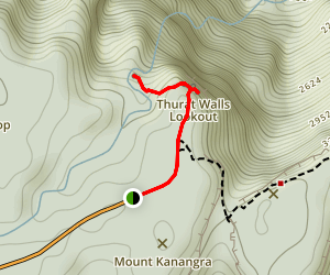 Kanangra Walls Lookout and Kalang Falls Walk Map