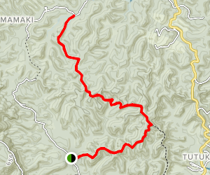 Tane Moana Hike Map