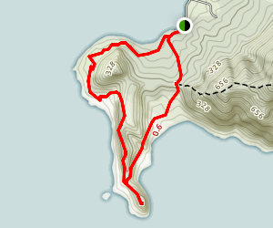 Smuggler's Cove to Busby Head Loop Map