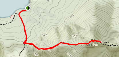 Mount Lion Track Map