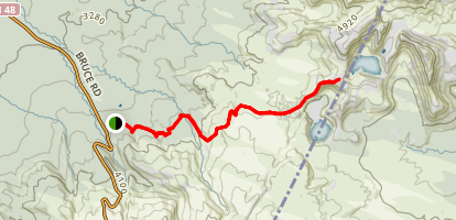 Upper Tama Lake Track Map