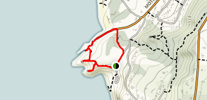 Takapu Refuge Walk to Maori Bay Track Loop Map