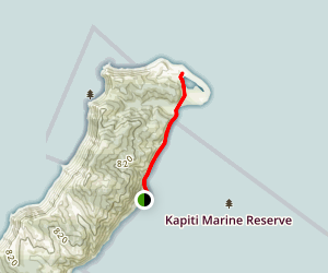 Kapiti Marine Reserve North Track Map