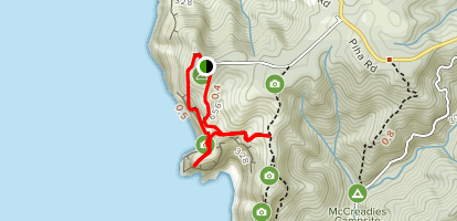 Mercer Bay Loop Track Map
