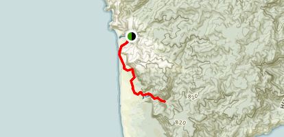 Pararaha Coastal Track to Pararaha Valley Track Map