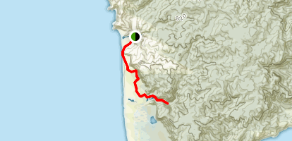 Pararaha Coastal Track to Pararaha Valley Track {CLOSED} Map