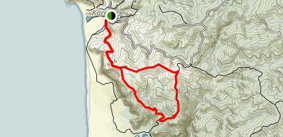 Zion Hill to Zion Ridge Track Loop Map