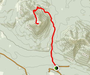 Baldy Fire Lookout Map