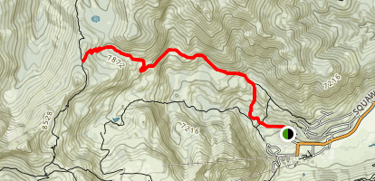 Granite Chief Trail Map