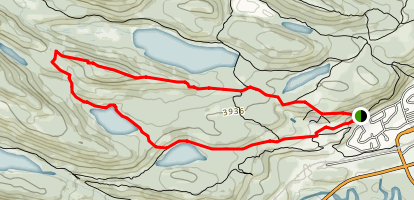 Hibernia Lake and Marjorie Lake Trail Map