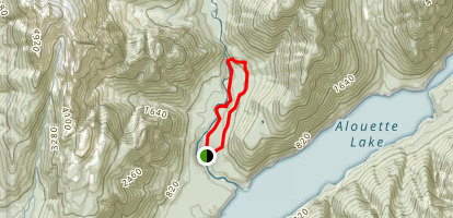 East Canyon to Lower Falls Loop Trail Map