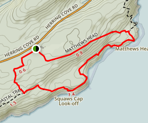 Matthews Head and Squaws Cap Look-off Trail Map