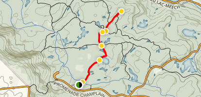 Huron and Ridgeline Trail to the Lookout Map