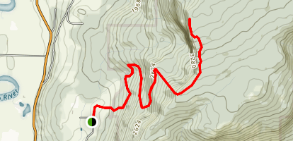 Enderby Cliffs Trail Map