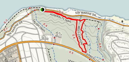 Easy Canyon and West Canyon Loop Trail Map