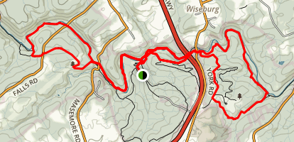 Gunpowder Falls North and South Loop Trail Map