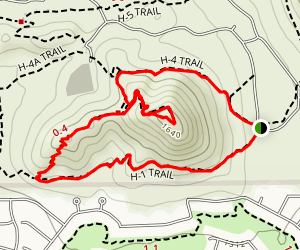 H-1 to H-4 Trails Loop Map