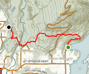 Baden Powell Trail: Deep Cove to Lynn Canyon Park  Map