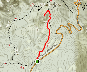 Sentinel Dome Trail Map