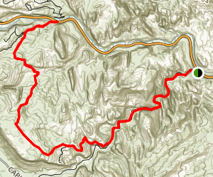 Grand Wash Trail and Frying Pan Trail Map
