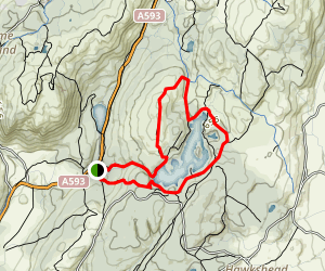 Tarn Hows and Tom Heights Loop Map