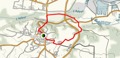 The Adour River Loop Trail Map