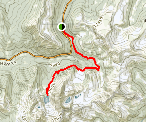 Michigan Ditch Trail to Lake Agnes Map