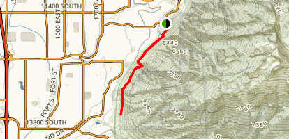 Bonneville Shoreline Trail - Draper Map