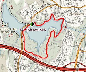 Lake Johnson East Loop Trail Map